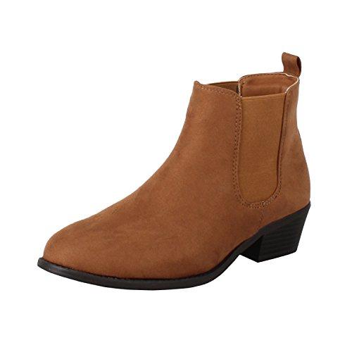 Refresh Women's Tildon-03 Ankle Boot, Tan 7 B(M) US