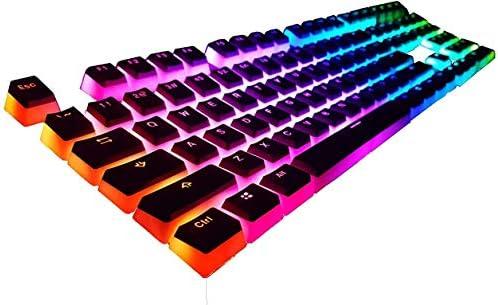 Backlit Full Key Set 2 Year Warranty Layout PBT Black English OEM Profile HyperX Pudding Keycaps US 104 Key