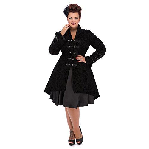 Noir Hearts noir Manteau Roses amp; Femme zxw0R6q