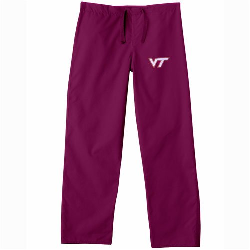 Virginia Tech Hokies NCAA Classic Scrub Pant (Maroon) (X Small) by Gelscrubs