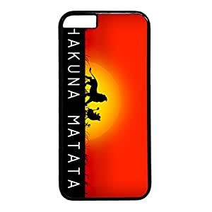 iCustomonline Keep Calm and Hakuna Matata Hard Back Cover Snap on PC Black Case for iPhone 6 (4.7 inch)