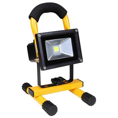 10w Rechargeable Portable Cordless LED Flood Light Color Yellow by AV Prime Inc.