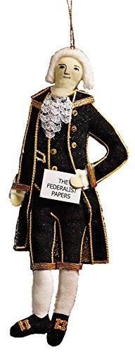 Alexander Hamilton Embroidered Fabric Ornament
