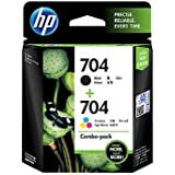 hp 704 black & 704 colour ink cartridge combo