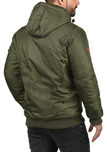 Green solid Capucha Hombre 3797 Chaqueta Ivy Para Bettino De Entretiempo Abrigo Con 6n6vrqpF