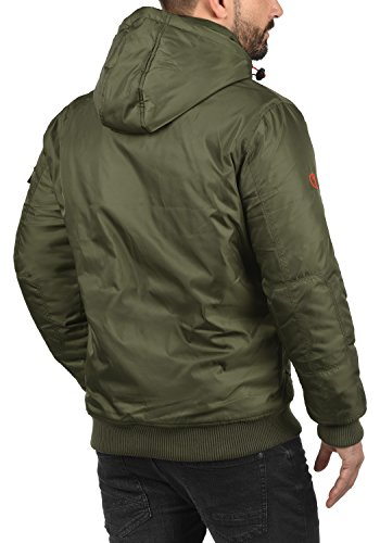 Hombre Abrigo con Chaqueta 3797 para Ivy Solid Capucha Bettino Entretiempo De Green UqRxF