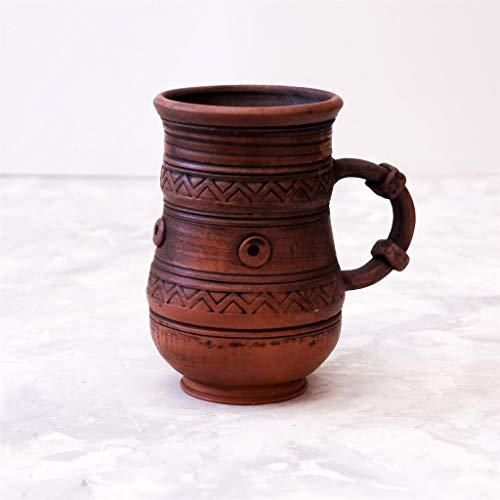 Oversized mug Ceramic mug Rustic beer cup Pottery clay Drinkware Eco friendly Big coffee mug ()