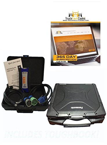 (Nexiq USB Link 2 with CF30 Panasonic Toughbook with 12-month Subscription to TruckFaultCodes)