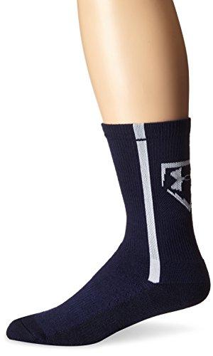 Under Armour Men's Baseball Crew Socks, Midnight Navy/White, Medium Under Armour Baseball Socks