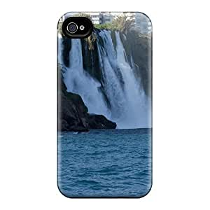 For BrandonSabado Iphone Protective Case, High Quality For Iphone 4/4s Lower Duden Falls In Ankara Turkey Skin Case Cover
