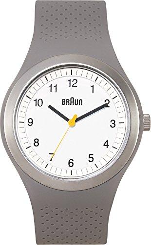 Braun Men's BN0111WHGYG Classic Sports Analog Display Japanese Quartz Grey Watch