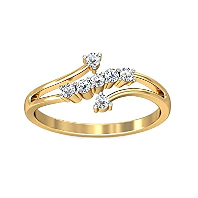 Buy Belle Diamante 18KT Yellow Gold and Diamond Ring line at Low
