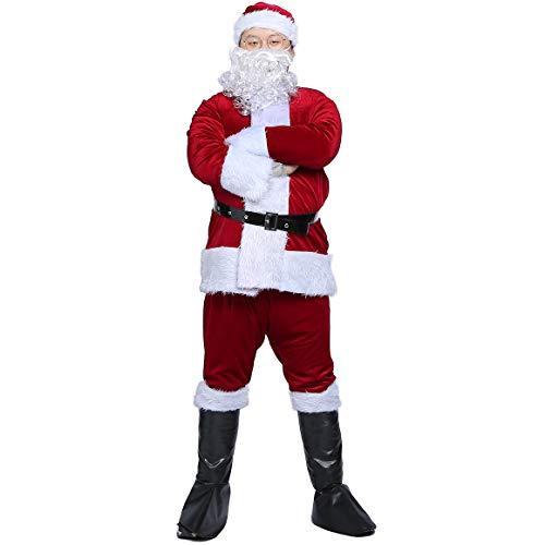 KAIYANG Santa Claus Costume Adult Plush Santa Claus