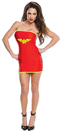 (Rubie's Women's DC Superheroes Wonder Woman Tube Dress, Multi, Medium)