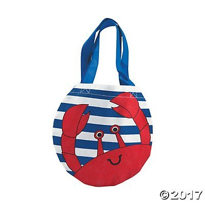(Small Crab Tote Bags - 12 ct)