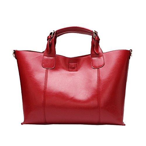 à Sac à Vintage Bandoulière Capacité Bag Imperméable Lady Grande Casual Main KYOKIM Marron Messenger Sac Pw8EzxqB