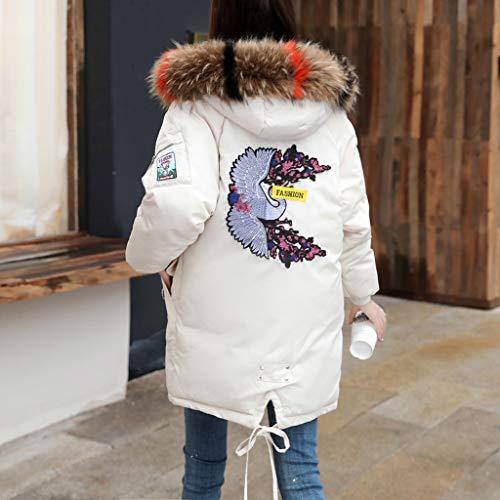 Yvelands Mujeres Invierno Cálido Outwear Top Coat Faux Fur con Capucha Gruesa Chaqueta Delgada Abrigo Largo Largo: Amazon.es: Ropa y accesorios