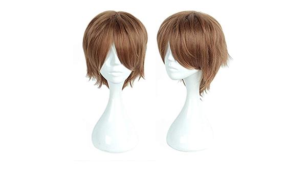 YY3 Peluca de pelo corto marrón de Cosplay para Ron Weasley ...