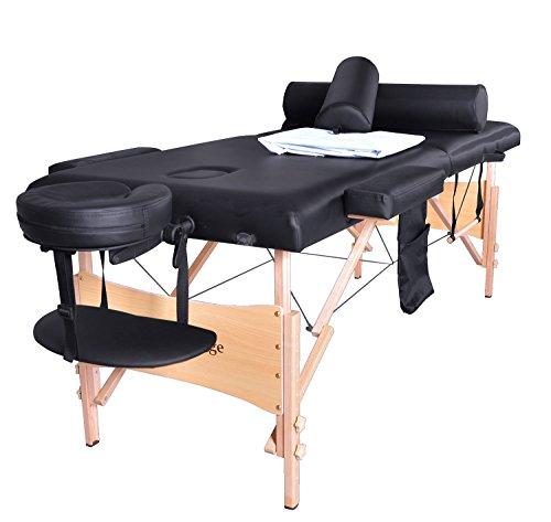 BestMassage Portable Massage Table Bed W/sheet Cradle Cover 2 Bolster Hanger