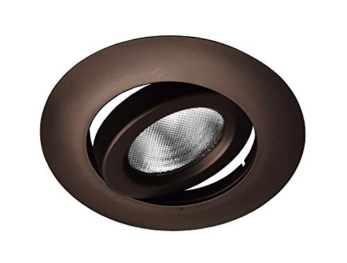NICOR Lighting 6-Inch Gimbal Ring Recessed Trims, Oil-Rubbed Bronze (17558OB)