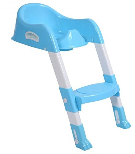 SKB Family Kid Training Toilet Potty Trainer Seat Chair with Ladder home comfortable fold adjustable standard by SKB family