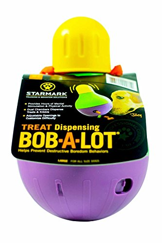 StarMark Bob-A-Lot Interactive Pet Toy, Large (Dog Toys That Help With Separation Anxiety)