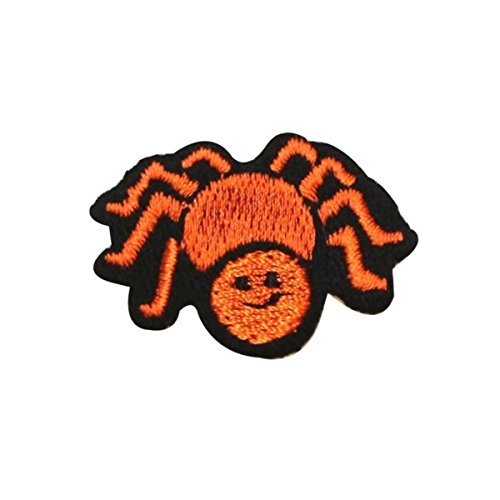 ID 0924 Friendly Tiny Spider Patch Halloween Creepy Embroidered Iron On Applique