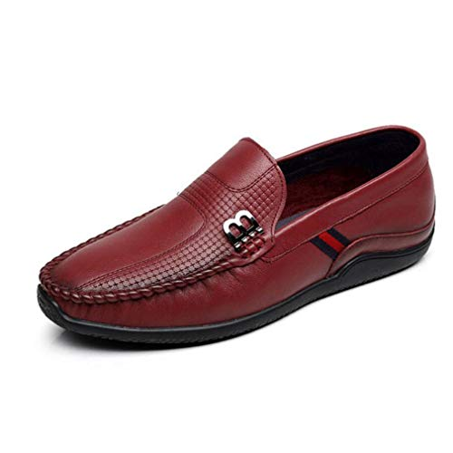 Zapatos Do Zapatos Negocios YaXuan Hombres Zapatos de de los Planas Hombres para de Vestido de Holgazanes conducción Cuero Ocasionales los del de SwBw1qd0