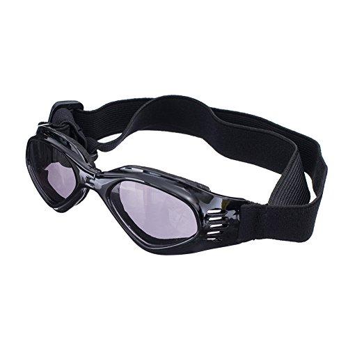[NEW VERSION] CocoPet Cool Dog Goggles Pet Sunglasses Eye Wear UV Protection Waterproof Sunglasses for Puppy Dogs Small Medium Black 41 2B2qEiZBbL