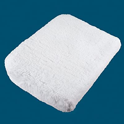 Driver's Angle Lift Seat Cushion with Washable Seat Cushion Cover by JUMBL,White: Automotive