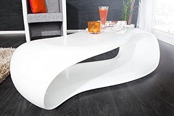 Dunord Design Couchtisch Sofatisch Gravity Weiss 110cm Hochglanz