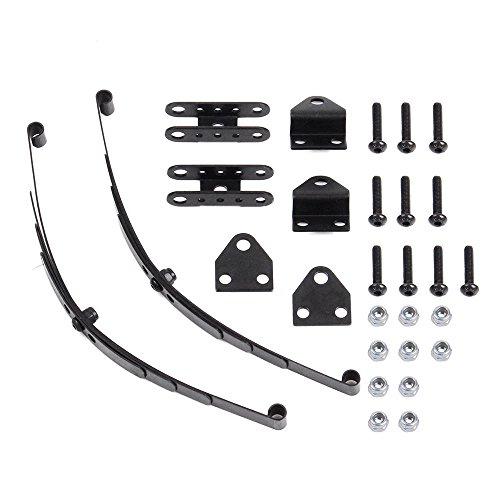 INJORA Hard Leaf Spring Suspension Steel Bar for 1:10 RC Rock Crawler D90 Axial SCX10 F350 (1 Pair)