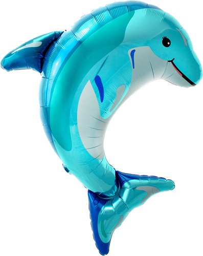 Blue Dolphin Helium Foil Balloon product image