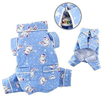 Snowman and Snowflake Flannel Pamajas/Bodysuit/Overall - X-SMALL
