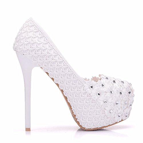 White Plateforme Minitoo 14cm Heel femme aF6qxYqE