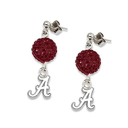 LogoArt University of Alabama Crystal Ovation Earrings