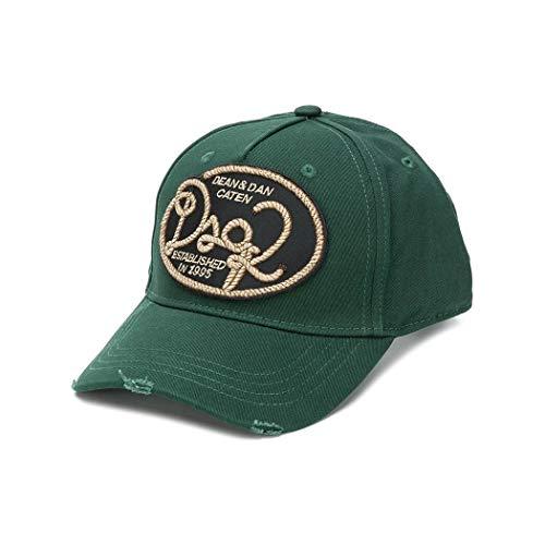 DSQUARED2 Accesorios de Hombre Gorra Baseball Cuerda Verde Oscuro Otoño Invierno 2019