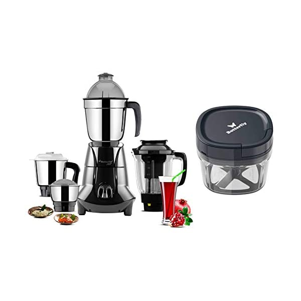 Butterfly Jet Elite 750W Mixer Grinder and Vegetable Chopper