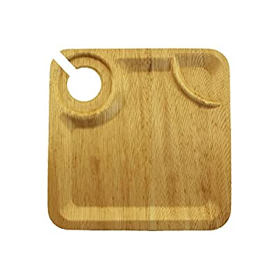 BambooMN Premium Thermo Pressed Bamboo Leaf Square Dinner Plates - Varies Sizes and Options