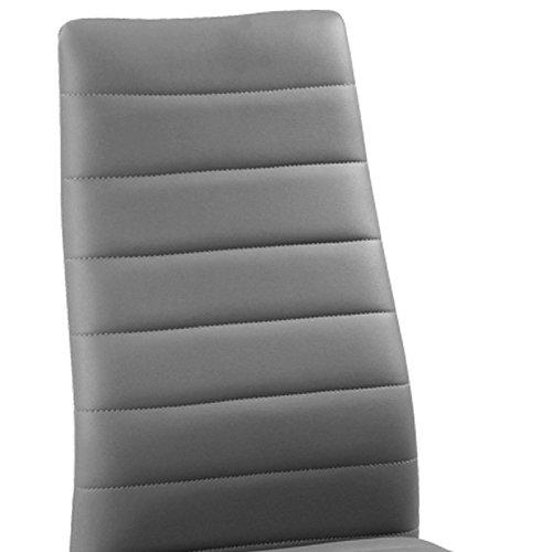 Lot de 6 chaises grise GIGA