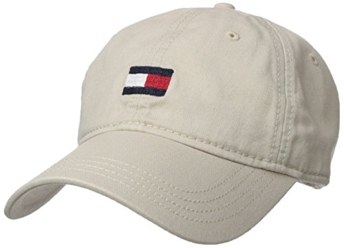 (Tommy Hilfiger Men's Ardin Dad Hat, Tommy Stone, One Size)