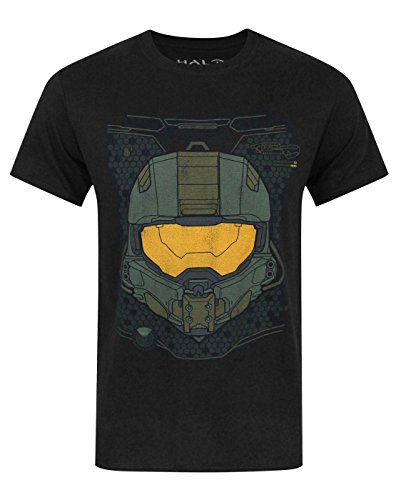 Official Halo 5 Master Chief HUD Helmet Boy's T-Shirt (12-13 Years) (Halo For Kids)