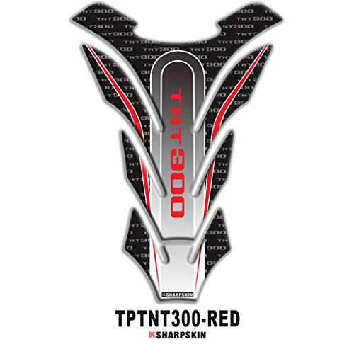 psler Motorcycle 3D Fuel Tank Pad Sticker Protective Decorative Decal for Benelli TNT300 (Red)