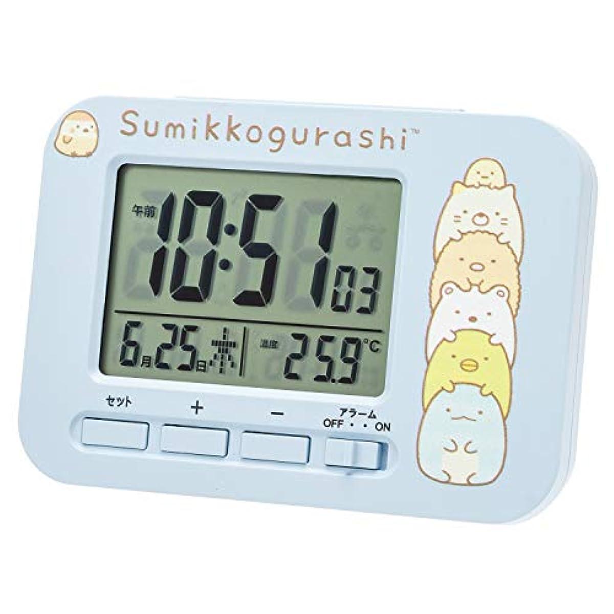[해외] 스밋코구라시 자명종 전파 시계 AC19049SXSG