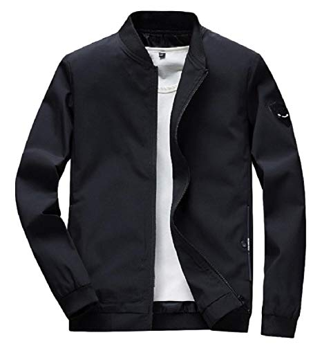 Plus Leisure Outwear Men XINHEO Size Jacket Collar Pockets Patchwork Black Zip Stand B6wxwSXq4