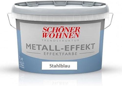 Schoner Wohnen Glanz Metalleffekte Metall Effekt Stahlblau 0 375 Ml Amazon De Baumarkt