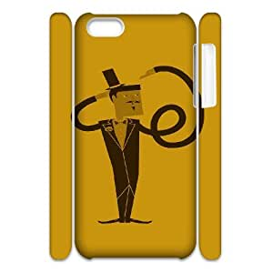 3D IPhone 5C Cases Funny 111, Fun [White]