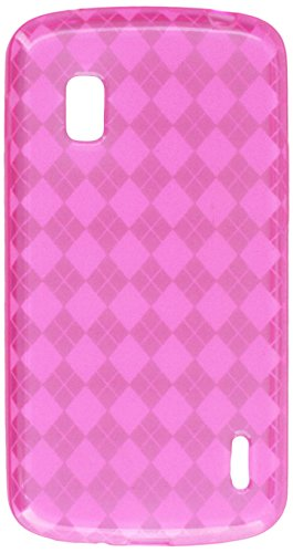 MyBat Argyle Candy Skin Cover for LG E960 (Nexus 4) - Retail Packaging - Hot (Argyle Candy Skin Cover)
