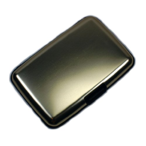 SALE! RFID Blocking Aluminum Wallet Men Women Credit Card Case SWISS STYLING-Gold