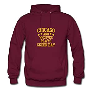 Chicago Designed Regular : X-large Womenhoodies Burgundy- Made In Good Quality.